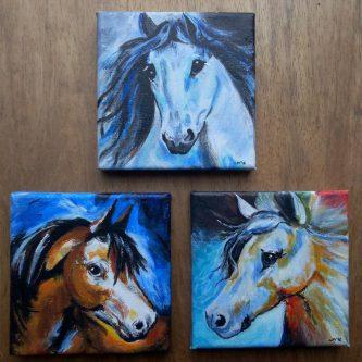 3-luikje Paarden