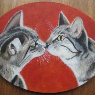 Snuffelende Katten