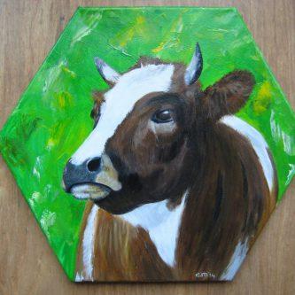Koe op zeskant