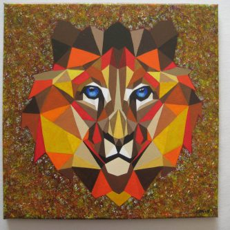 Mozaïek-Leeuw