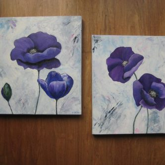 2-luik Purple Poppies