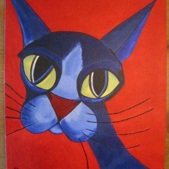 Blauwe kat