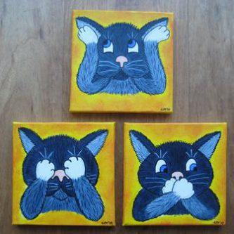 Horen, zien en zwijgen katjes