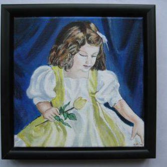Meisje met gele jurk